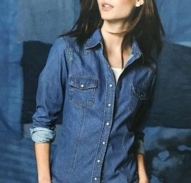 Esmara женские джинсовые рубашки оптом, сток