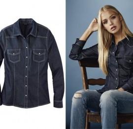 Esmara женские джинсовые рубашки, пиджаки оптом сток