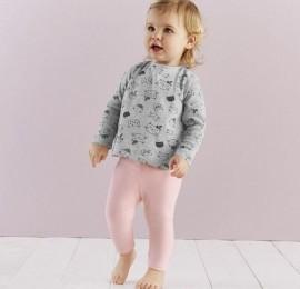 Штанишки  Lupilu baby pure collection на девочку в ростовке ( 2  шт в  упаковке ), оптом сток