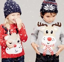 С&А Kids +новый год детская одежда сезона осень зима плюс модели с новогодними принтами оптом, сток.