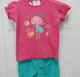 Topomini летние наборы , шорты+футболка на девочек, оптом сток