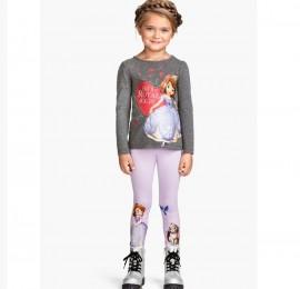 Disney детские лосины на девочку, размер 92-128, оптом сток