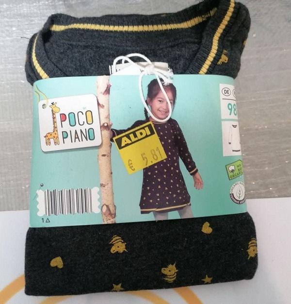 Poco Piano детские трикотажные платья на рост 92-116 см, оптом сток